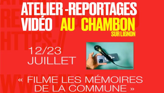 Actualités - Atelier reportages vidéo