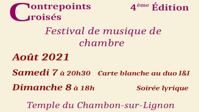 Actualités - Festival Contrepoints croisés